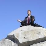 man meditating sq