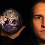 man with world sq